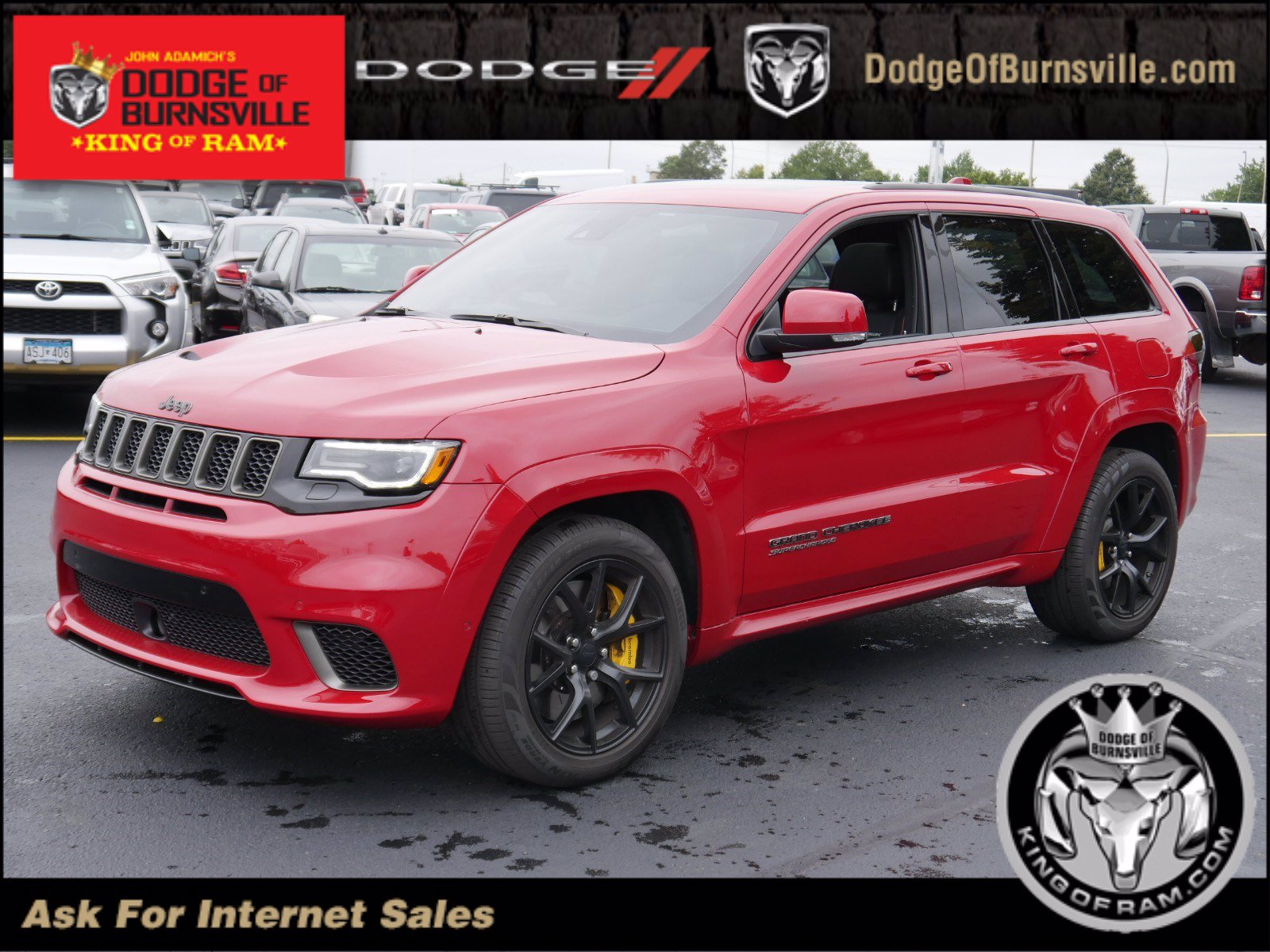 2018 Jeep Grand Cherokee >> Pre Owned 2018 Jeep Grand Cherokee Trackhawk With Navigation 4wd
