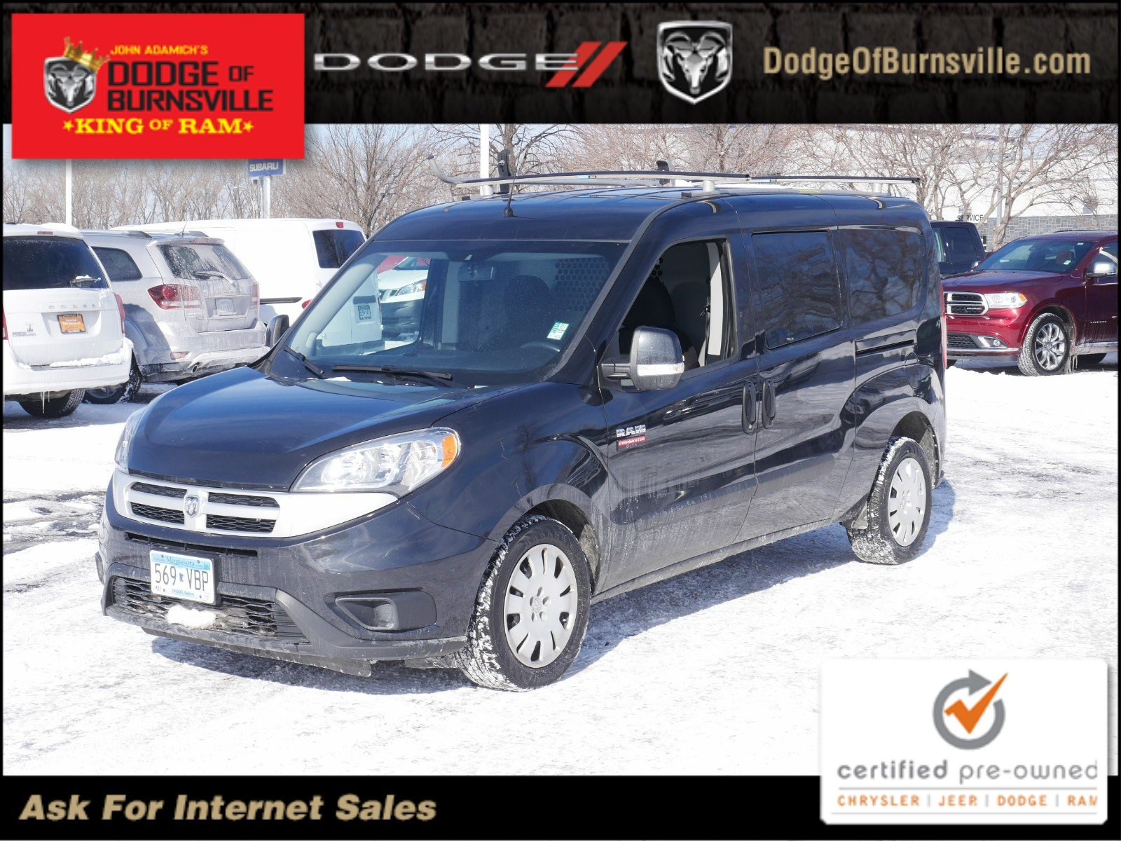 Certified Pre Owned 2016 Ram Promaster City Cargo Van Tradesman Slt